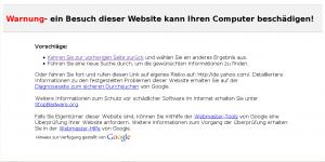 Yahoo is malware!